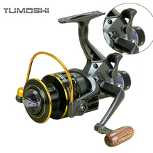 2018 New Fishing Reel Double Brake Front and Rear Drag reels Carp Fishing Feeder Spinning Reel Carp Fishing Tackle Rod Combo(China)