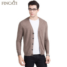 Men Cardigan Sweater 2017 High Quality Pure Mink Cashmere Fluffy Spring Autumn V-Neck Soft Causal Knitwear Outwear Coat