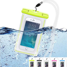 For IPhone 7 7 Plus 5 5S SE 6 6 Plus Waterproof Pouch Bag Luminous Diving Underwater Case for Xiaomi Redmi Note 3 Pro Meizu M3s