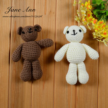 Photography prop photo crochet bear 4 colors handmade newborn photography studio booth props baby shower gift