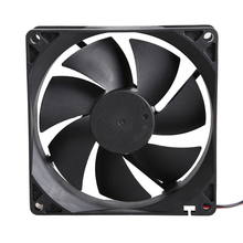 9025S 12V 0.2A Brushless DC 7 Blade Cooling Fan with 2 Wires 92x92x25mm