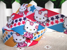 new arrival 7/8''  22mm hello kitty printed grosgrain ribbon hello kitty ribbons 10 yards tape