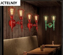 Loft pipe wall lamp fashion LED lights Wrought iron multicolor paint