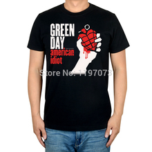 Green Day  band -American Idiot  album cover men's punk rock black cotton T-Shirt size s-xxxl