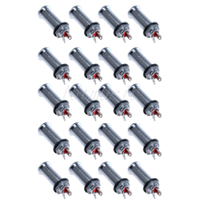 20Pcs Low Noise Bass Output Jack Chrome Flash Mount Cylinder Barrel For Ibanez Guitar Parts(China)