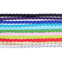 10meters/bag 5mm PU braid leather cord fitting DIY bracelets and necklaces wholesale price(China)