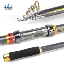 High Quality Carbon Fiber Telescopic Fishing Rod 2.1/2.4/2.7/3.0/3.6m High Performance Sea Fishing Pole fishing Tackle pesca