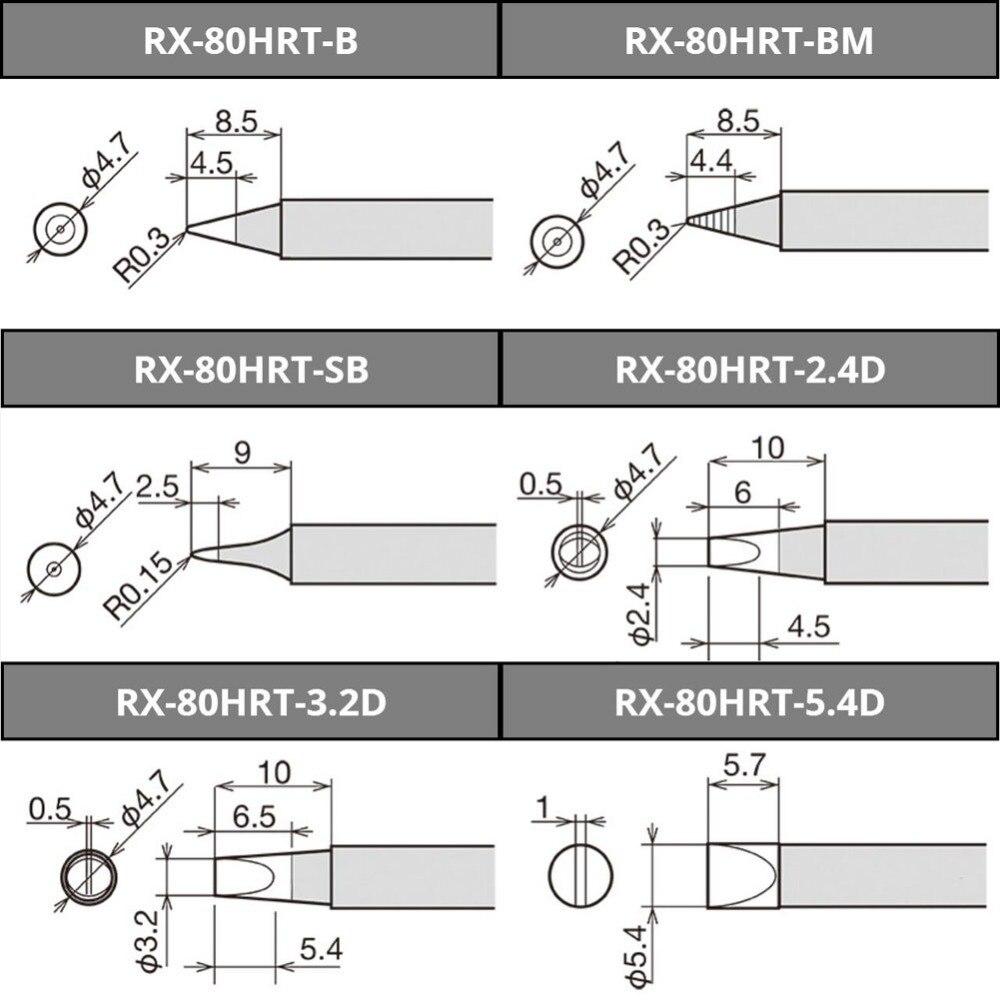 Original Japan Goot Rx 80hrt Series Replacement Welding Tip For Tig Handpiece Diagram 1