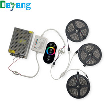 10M 15M 20M RGB Led Strips 5050 Non Waterproof+RF Touch Dimmable Remote Controller+AC 110/220V DC 12V Led Driver For home lamps(China)
