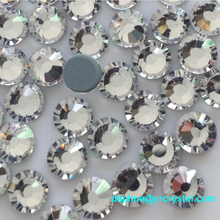 YANRUO #2028HF All Sizes Clear Hotfix Iron Flatback Crystal Adhesive Rhinestone For Clothes Hot Fix Strass Glass Stones