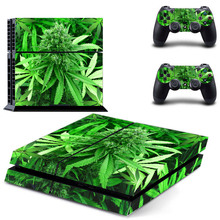 Weed For PS4 Skin Vinyl Decal Skin For playstation 4 Console For PS4+2Pcs Stickers For ps4 accessories