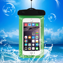 PVC Waterproof Diving Bag For Mobile Phones Underwater Pouch Case For iphone 5 5S 6 7 Plus For samsung galaxy S6 S7 Edge S8 Plus(China)