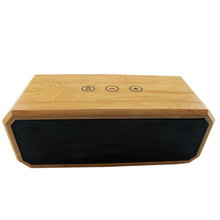 QIATENG Natural Wooden Wireless Bluetooth CSR 4.0 Speaker With Mic Portable Handsfree Bamboo USB Speaker Sound Box Loudspeaker