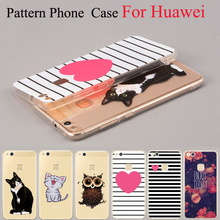 Cats Love Pattern Phone Case For Huawei Ascend P7 P8 P9 P10 Lite Y3 Y5 Y6 II Honor 4C 5C 4X 5X 6X 8 Nova Mate 9 Soft TPU Cover