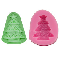 Christmas Snow Tree Silicone Fondant Soap 3D Cake Mold Cupcake Jelly Candy Chocolate Decoration Baking Tool Moulds FQ1670