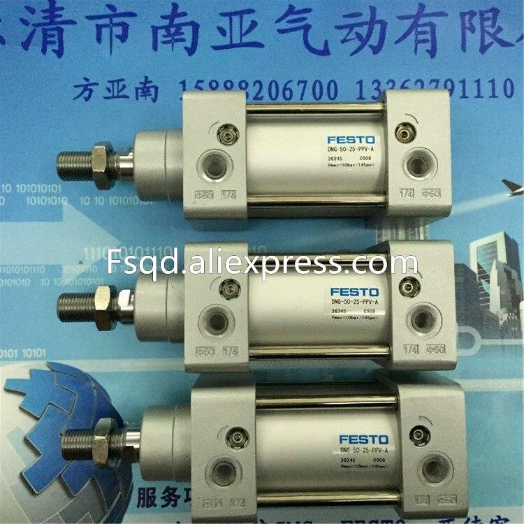 DNG-50-25-PPV-A FESTO standard cylinder pneumatic cylinder pneumatic component DNC series<br>