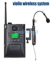 Free shipping UHF band 1/4 1/8 1/16 all size acoustic  violin transmitter+receiver instrument wireless system