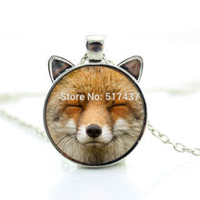 CN-00725 2017 New Content Fox Necklace Cute Fox Pendant Fox Jewelry Man Fashion Bronze Pendant Necklace HZ2