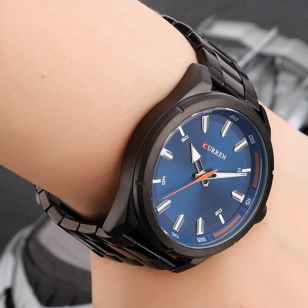 CURREN Fashion Men\\\'s Watch with Stainless Steel Strap Simple Creative Quartz Wristwatch for Men Clock erkek kol saati Waterproof 2019 (31)