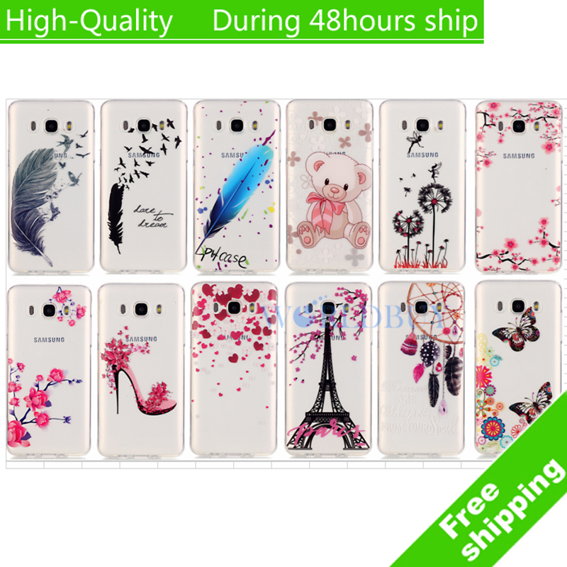 "For Samsung Galaxy J5 J510 5.2"" (2016) case TPU soft painting styles special phone back cover transparent protect skin shell(China)"