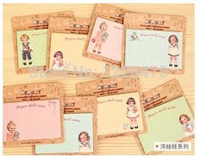1PC/lot  NEW paper doll girl Notepad / sticky note Memo / message post / Removable adhesive paper