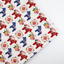 150cm x 50cm Horse Print DIY patchwork fabric cloth table cloth curtain cotton napkin linen cloth for child crafts home textile