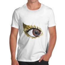Cool T Shirt Designs Funny Crew Neck Gold Eyeshadow Short-Sleeve T Shirt For Men