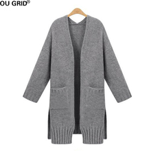 Buy Gray Knitted Sweater Cardigans 2016 Plus Size Women Winter Autumn New Fashion Women Clothing Long sleeve Warm Casual Cardigans for $29.75 in AliExpress store