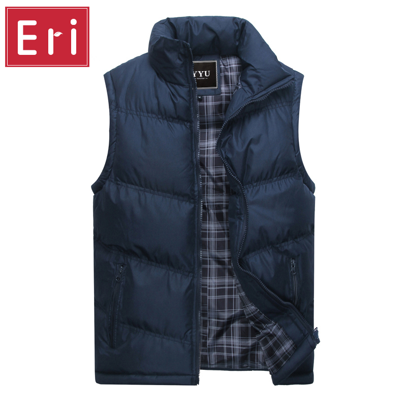 New Brand Mens Jacket Sleeveless Vest Winter Fashion Casual Coats Male Cotton-Padded Men's Vest Men Thicken Waistcoat 3XL X378(China (Mainland))