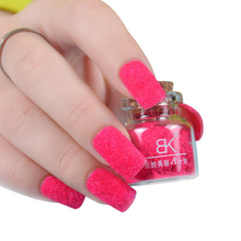 BK Brand Decorate Velvet Fiber Powder Nail Polish Professional Nail Varnish Art Cosmetics 24 Colors Brand BK
