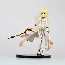 Birthday Gift Fate Stay Night Action Figure Collection 20cm Fate Extra Ccc Nero Saber Wedding Dress Model(China)