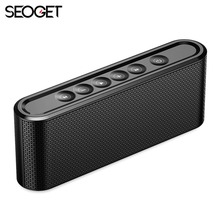 Seoget Hifi Bluetooth 4.2 Speaker 3D stereo Wireless Speaker Soundbar with Mic TF FM Radio USB sound box for Mobile Phones(China)