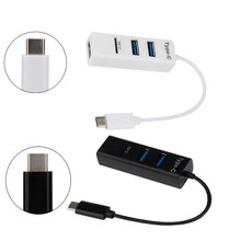 Type-C To 3-Port USB 2.0 +TF Card Reader Hub USB 3.1 Adapter For PC Apple Macbook 12 Factory Price