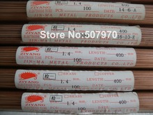 Ziyang Copper Electrode Tube Single Hole 1.4*400mm  for EDM Drilling Machine