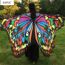 ZAFUL Wholesale Butterfly Wing Pashmina Women Scarves New Designer 5 Colors Fashion Print Wraps Female Scarves And Shawls Gifts