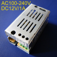 High quality 12V 1A 12W LED Switching Power Supply AC85-265V input power suply 12V 1A Output CE ROSH free shipping 1pcs/lot(China)