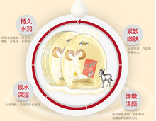 Donkey milk egg white and tender tenderness mask beauty tonic tight pull silk mask paste 28ml * 6pcs(China)