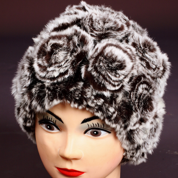 Free  shipping 2017 winter rex rabbit hair fur hat fashion thermal knitted hat female rabbit fur roseОдежда и ак�е��уары<br><br><br>Aliexpress