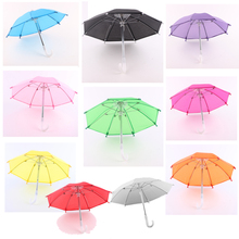 New American gir 10 color umbrellas 28 * 22 inches toy small umbrella fits 18 inch doll DIY doll accessories baby gift