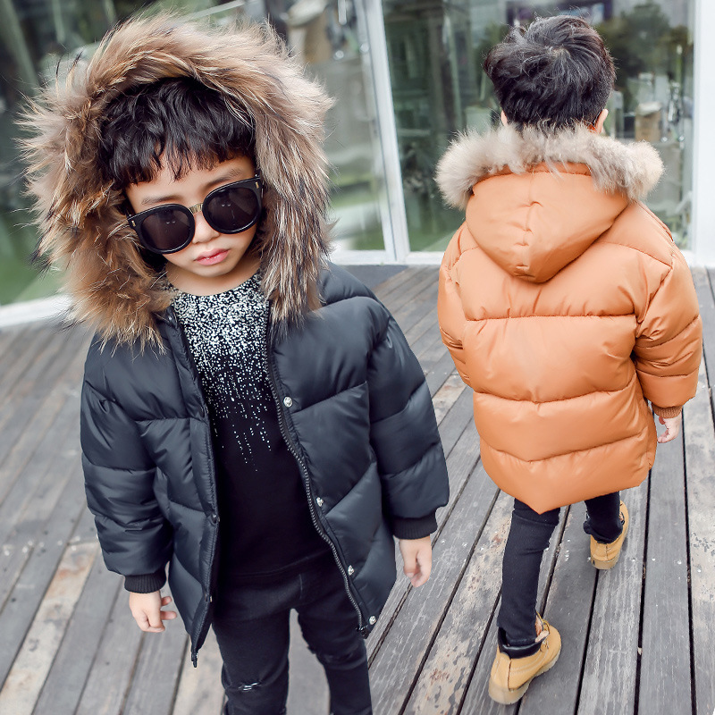 kids winter jacket boys outerwear baby 2017 big boys winter coats with fur hood child padded parkas children clothing 4 6 8 10 Y<br>
