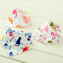 2017 Baby Bibs 25 Patterns 100% Cotton Triangle Head Scarf Boy Kerchief Girl Babador Bandana Dribble Bib B-E852857#(China)