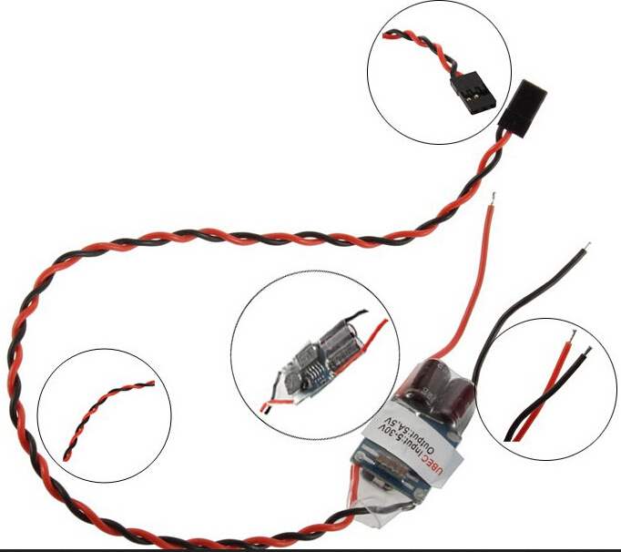 Free shipping + Brushless ESC external BEC (UBEC) 5A 5V (support 3-8S) receiver power bettery than hobbywing 5A UBEC<br><br>Aliexpress