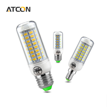 1Pcs Smart Power IC control LED Corn Bulb 220V E27 E14 No Flicker 24-89 LEDs lamp Replace Fluorescent Light 7W 12W 15W 25W 35W