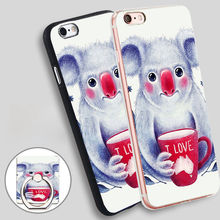 I Australia Phone Ring Holder Soft TPU Silicone Case Cover for iPhone 5 SE 5S 6 6S 7 Plus