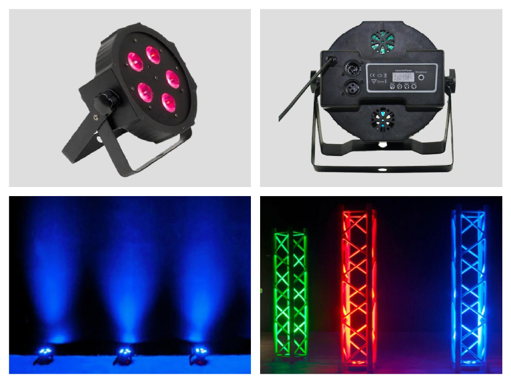 10pcs/lot, Slim Par led 5x9w RGB or 5x12W RGBA/W RGBW 4in1 or 5x15w RGBWA Flat dmx dj party entertainment lighting equipment<br>