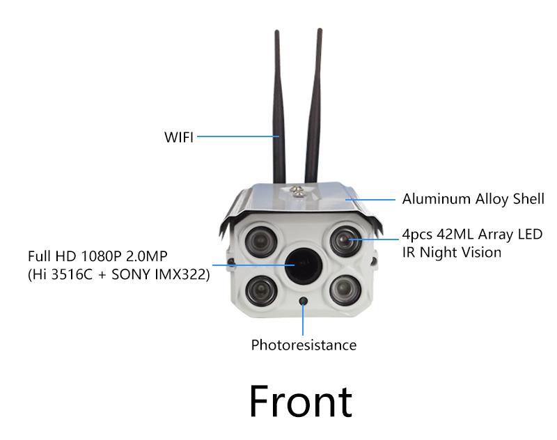 Outdoor Waterproof IP camera Zoom