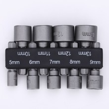 9pcs/set 5mm-13mm Hex Socket Sleeve Nozzles Magnetic Nut Driver Set Drill Bit Adapter Hex Power Tools