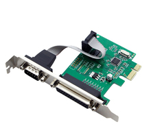 1 Port RS232 Serial COM & 1 Port Printer Parallel LPT Port to PCI-E Adapter Card(China)