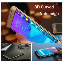 3D Curved Full Cover Premium Tempered Glass Screen Protector For Samsung Galaxy Note Edge N9150 Skin Cover Protective Film(China)