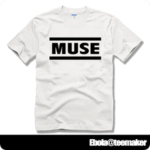 Muse name logo Matthew Bellamy Dominic Howard Chris Wolstenholme couple clothes man cotton short-sleeve T-shirt(China)